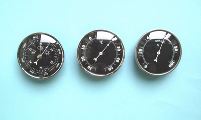 Digital clock with thermometer and hygrometer for home